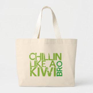 Chillin like a KIWI BRO Jumbo Tote Bag