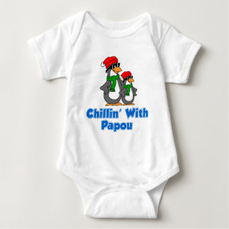 Chillin With Papou Baby Bodysuit