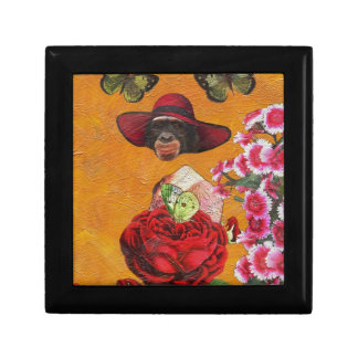 Chimpanzee Floral Butterfly Collage Gift Box