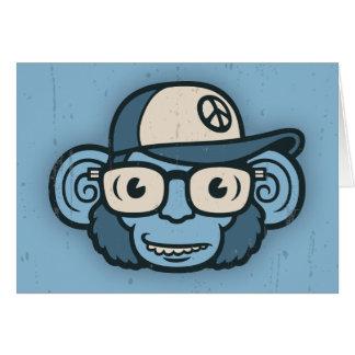 Chimpanzee in Blue Card