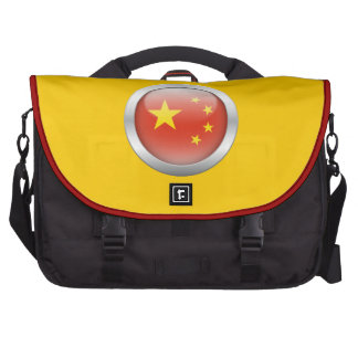 China Flag in Orb Commuter Bags