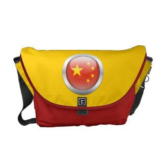 China Flag in Orb Messenger Bag