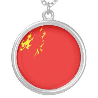 China Gnarly Flag Custom Necklace