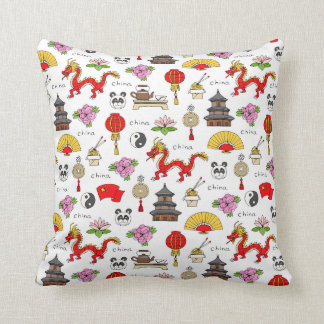China Symbols Pattern Cushion