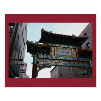 Chinatown in Philadelphia Poster