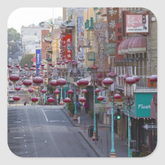 Chinatown on Grant Street in San Francisco, Square Sticker