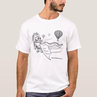 ChinChatComics pixel Chinchilla and Dragon T-Shirt