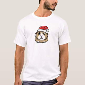 Chinchilla Santa Hat T-Shirt
