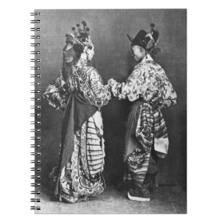 Chinese actors from behind, c.1870 (b/w photo) notebooks