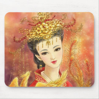 Chinese Bride with Phoenix Fantasy Mousepad