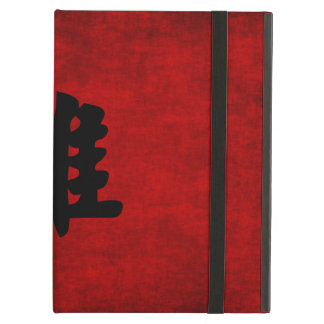 Chinese Calligraphy Symbol for Rooster in Red Cover For iPad Air
