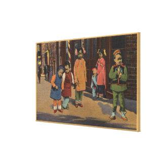 Chinese Children in Chinatown- San Francisco, CA 2 Canvas Print
