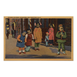 Chinese Children in Chinatown- San Francisco, CA 2 Print