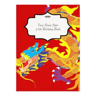 Chinese Dragon  Inspired Invitation