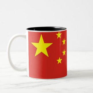 Chinese flag Two-Tone mug