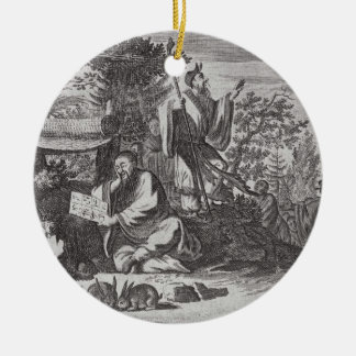 Chinese Holy Men, illustration from a description Christmas Ornament