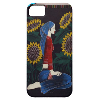 Chinese lady amongst the flowers iPhone 5 cases