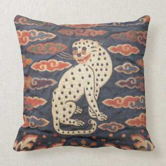Chinese Leopard Cat in Clouds Pillow