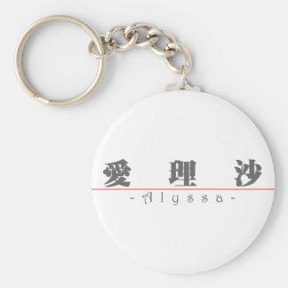Chinese name for Alyssa 21036_3.pdf Key Ring