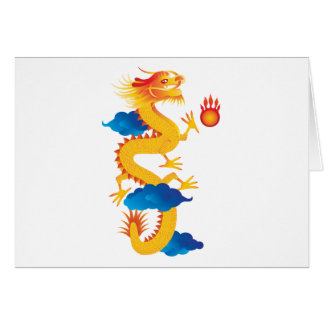 Chinese New Year Dragon Illustration Card