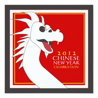 Chinese New Year of the Dragon Party Invitation