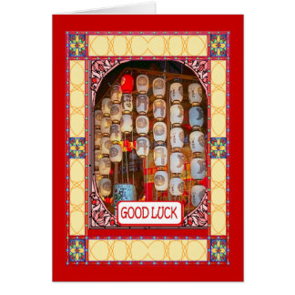 Chinese New Year, temple lanterns Greeting Card