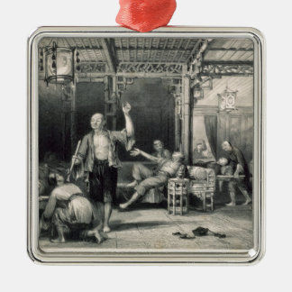 Chinese Opium Smokers, from 'China in a Series of Christmas Ornament