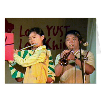Chinese  performances; Chinese New Year 1 Greeting Card