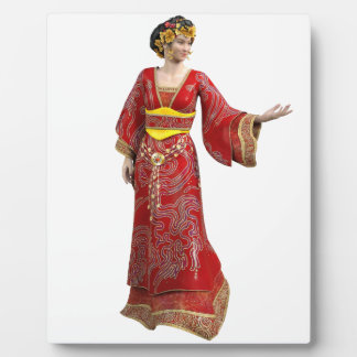 Chinese Princess in Red Plaque