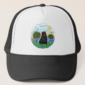 Chinese Shar Pei (black #6) Trucker Hat