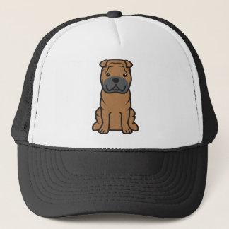 Chinese Shar-Pei Dog Cartoon Trucker Hat