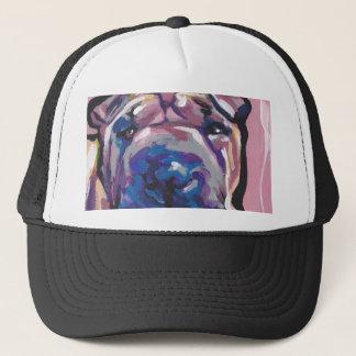 Chinese Shar Pei Dog Pop Art Trucker Hat