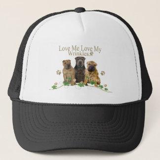 Chinese Shar-Pei Love My Wrinkles Apparel Trucker Hat