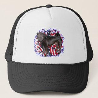 Chinese Shar-Pei Patriot Trucker Hat