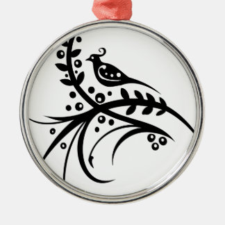 Chinese swirl floral design christmas ornament