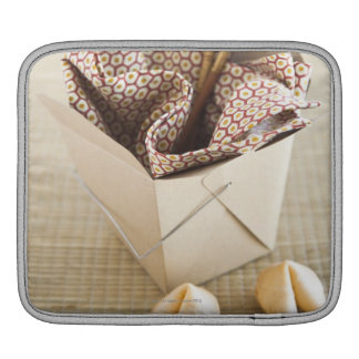 Chinese takeout container and fortune cookies iPad sleeve