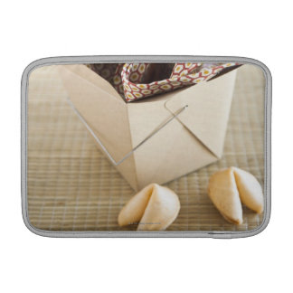 Chinese takeout container and fortune cookies sleeve for MacBook air