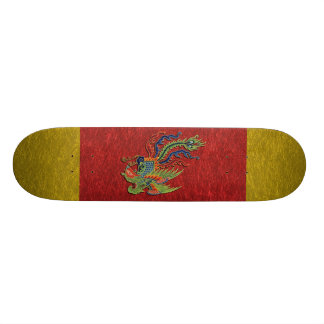 Chinese Wealthy Peacock Tattoo 21.6 Cm Skateboard Deck