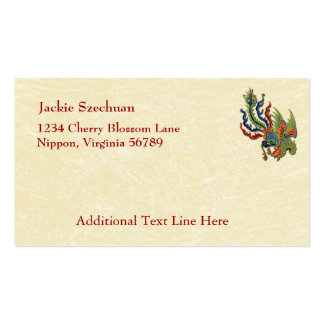 Chinese Wealthy Peacock Tattoo Double-Sided Standard Business Cards (Pack Of 100)