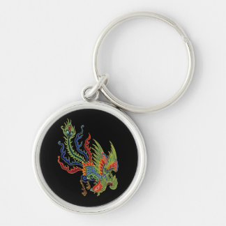 Chinese Wealthy Peacock Tattoo Keychains