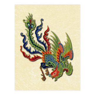 Chinese Wealthy Peacock Tattoo Postcard