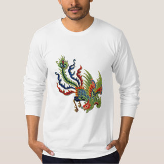 Chinese Wealthy Peacock Tattoo T-Shirt