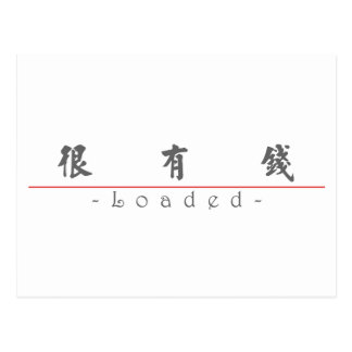 Chinese word for Loaded 10362_5 pdf Postcards