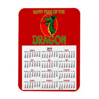 Chinese Year of the Dragon Cartoon Rectangular Photo Magnet