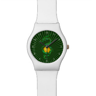 Chinese Year of the Dragon Jade Green Wristwatch