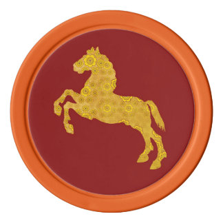Chinese Year of The Horse Ceramic Coin Tokens