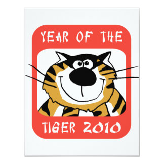 Chinese Year of The Tiger 2010 11 Cm X 14 Cm Invitation Card