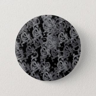 Chinese Ying Yang Dragon 6 Cm Round Badge