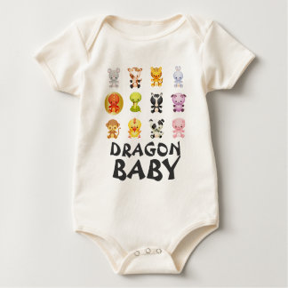 Chinese Zodiac Animals Year of the Dragon Baby Bodysuits