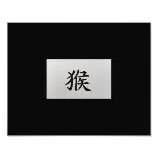 Chinese zodiac sign Monkey black